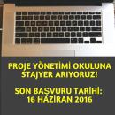 Proje Yönetimi Okulu'na Stajyer Arıyoruz!